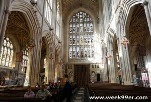 A Look at Over Twelve Centuries of History Inside the Bath Abbey #timeforwiltshire #wanderreal