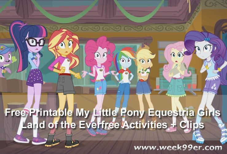 - Free Printable My Little Pony Equestria Girls Land Of The Everfree  Activities + Clips