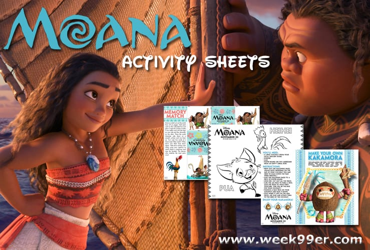 moana activity sheets