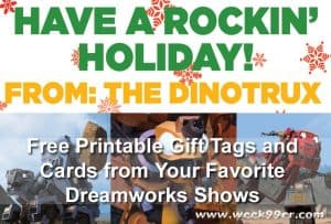Free Printable Gift Tags and Cards from Your Favorite DreamWorks Shows!