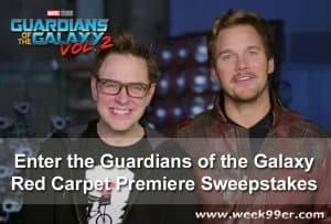 Enter the Guardians of the Galaxy Red Carpet Premiere Sweepstakes #GotGVol2