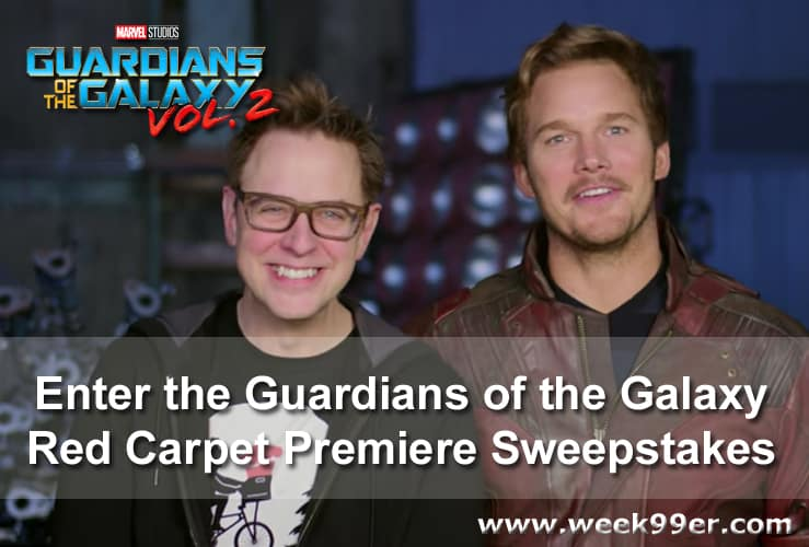 Guardians of the Galaxy Red Carpet Premiere Sweepstakes