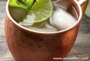 Classic Moscow Mule with Homemade Ginger Simple Syrup