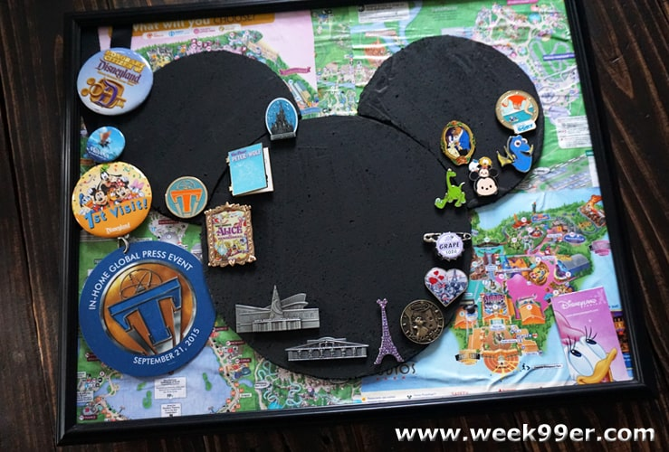 DIY Disney Pin Board Tutorial