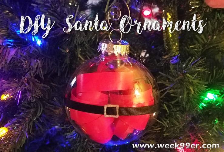 DIY Santa Ornament