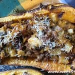 Butternut Squash Stuffed with Apples and Sausage Recipe