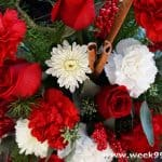 Send a Hug and Love with a Christmas Cardinal Bouquet