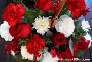 Send a Hug and Love with a Christmas Cardinal Bouquet