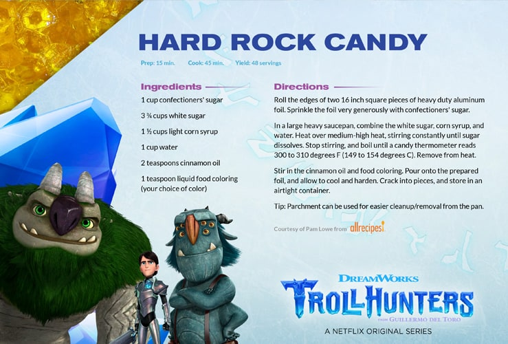 Trollhunters rock candy