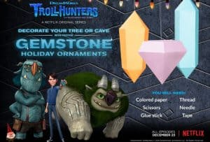DreamWorks Printable 3D Ornament Activity Sheets #netflix #dreamworks