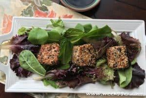 Seared Sesame Tuna with Greens Recipe