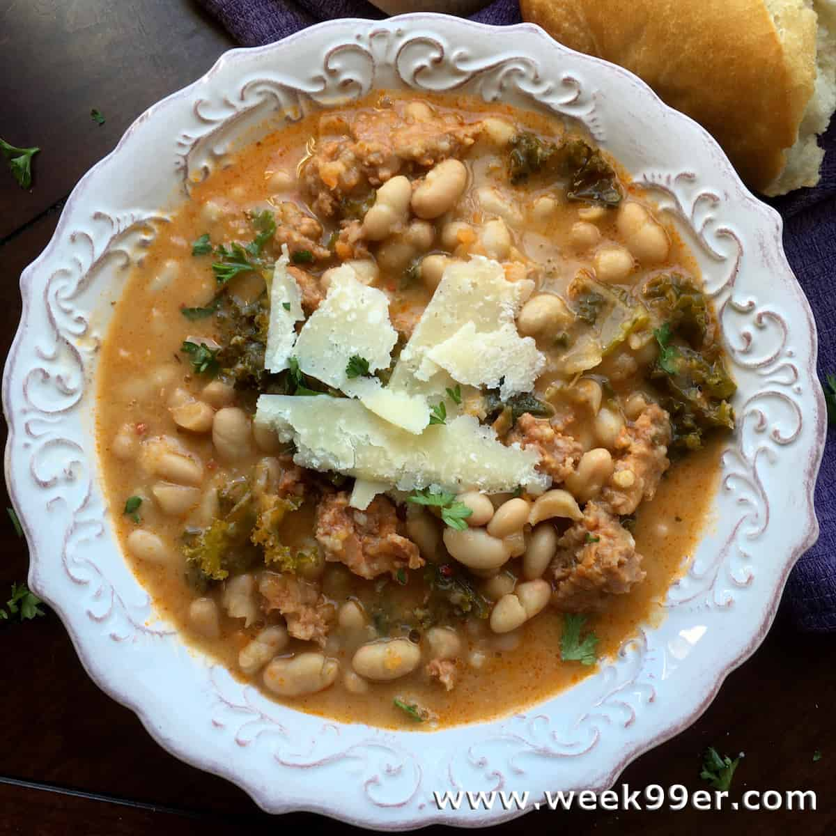 One Skillet White Bean and Sausage Soup Recipe