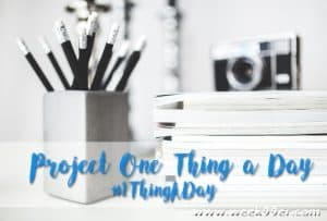Join Us in Project One Thing a Day #1ThingADay