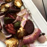 Easy Roasted Beets and Brussels Sprouts Recipe
