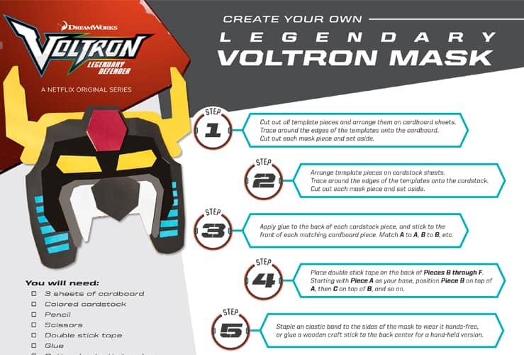 Voltron Legendary Defender Masks