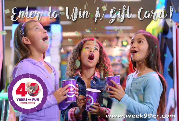 chuck E Cheese Gift Card Giveaway