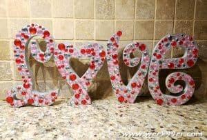 Rhinestone Valentine's Day Letters Tutorial