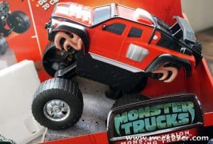 Monster Vision Let's Your Monster Trucks Jump Over Objects with Ease #MonsterTrucks