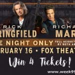 Win 4 Tickets to An Acoustic Evening with Rick Springfield and Richard Marx at the Fox!
