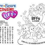 Care Bears & Cousins BFFs Printable Activity Sheets