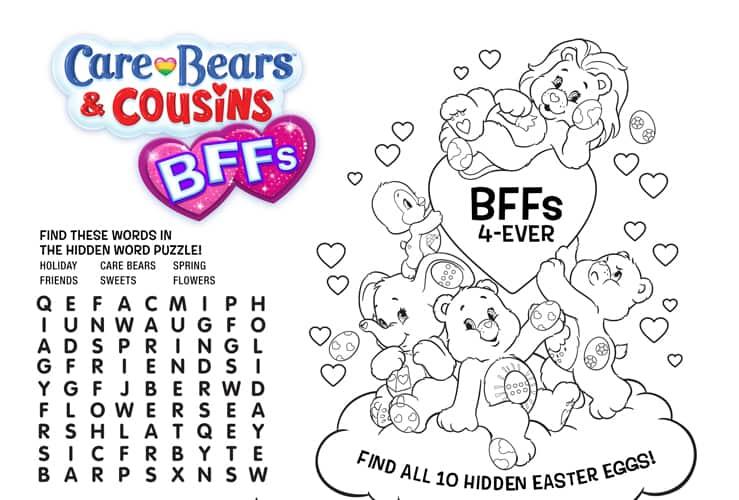 care bear activity sheets