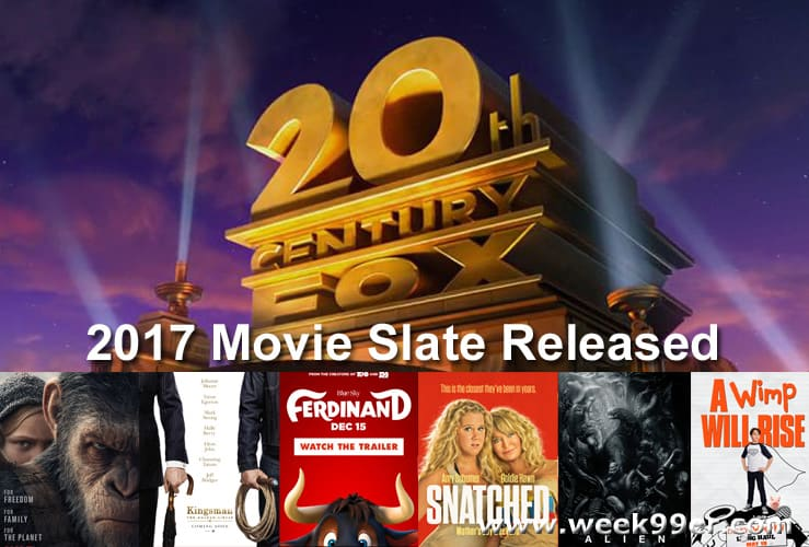 2017 20th century fox movie slate