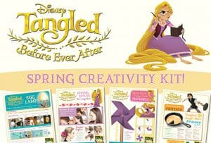 Tangled Before Ever After Spring Creativity Kit Printables