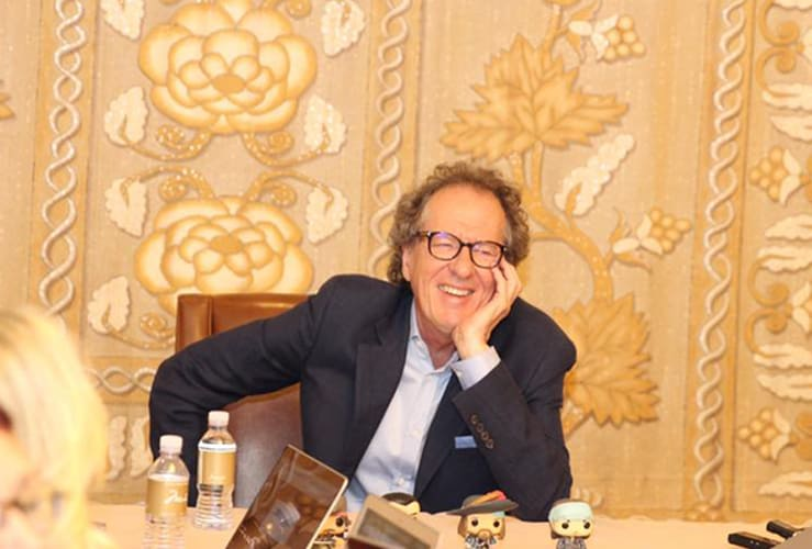Geoffrey Rush Interview Pirates of the Caribbean