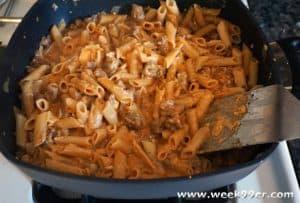 sausage cheesy pasta recipe