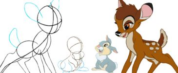 Learn How to Draw Bambi! #Bambibluray