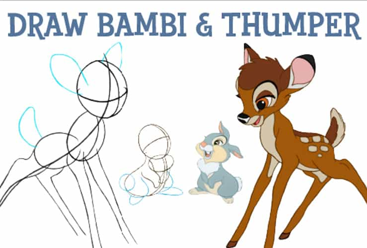 learn how to draw Bambi
