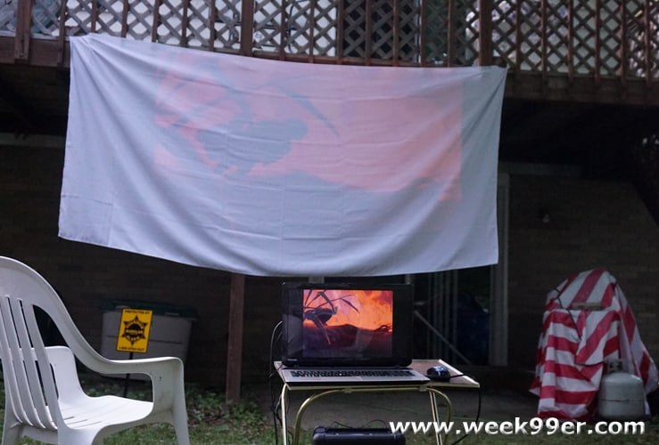 How to have your own back yard movie night beauty and the beast under the stars