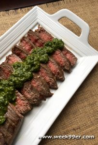 Marinated Flank Steak with Chimichurri Sauce recipe