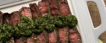 Marinated Flank Steak with Chimichurri Sauce Recipe