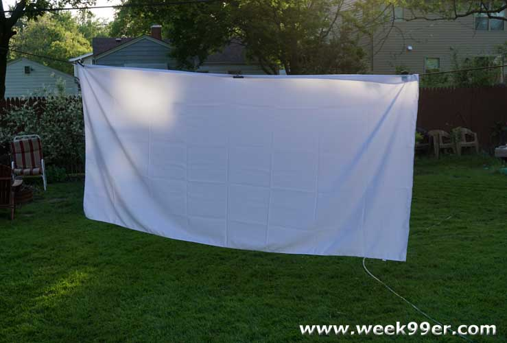 How to have your own back yard movie night