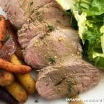 Mustard Pork Loin with Thyme-Roasted Carrots Recipe