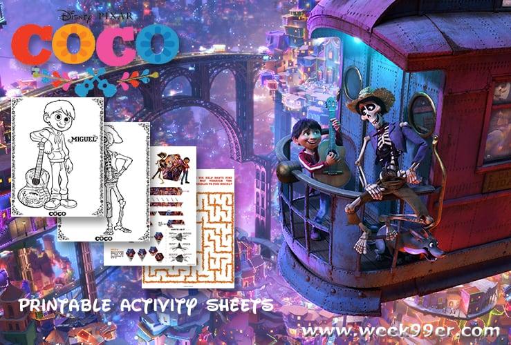 coco coloring sheets