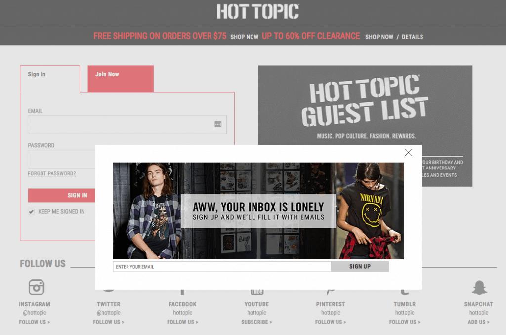 hot topic deals