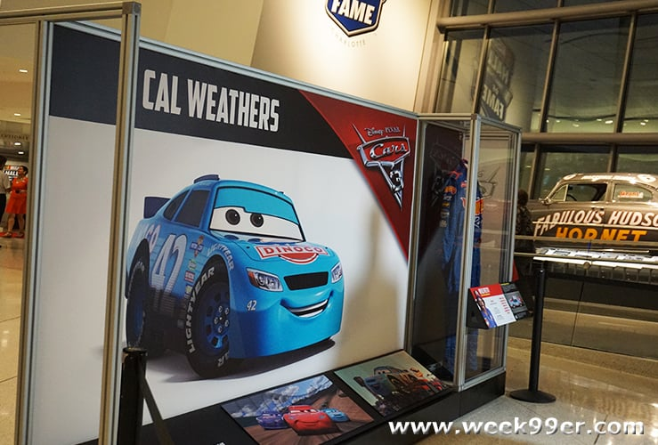 NASCAR Hall of Fame Disney Cars Exhibit