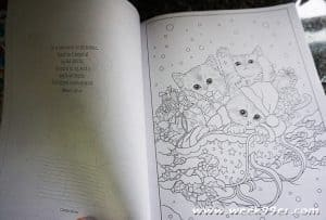 cat christmas coloring book