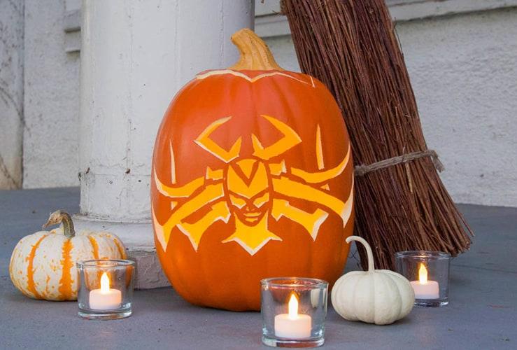 Thor Rangarok Pumpkin DIY and Mjolnir Candy Apple Recipe