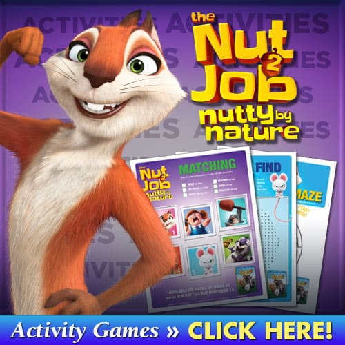 nut job 2 activity sheets