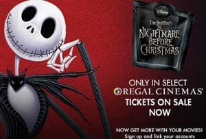 Regal Cinemas is Bringing The Nightmare Before Christmas for Halloween!