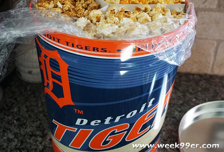 Detroit Tigers Popcorn Tin