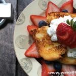 Broiled Angel Food Cake with Maple Whipped Cream Recipe