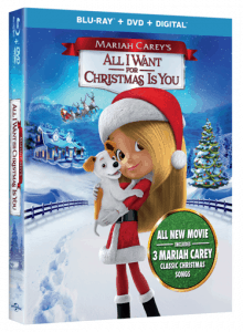 The new family holiday classic Mariah Carey's All I Want for Christmas is You is debuting on Blu-rayTM, DVD, Digital and On Demand on November 14, 2017 from Universal 1440 Entertainment, a production entity of Universal Pictures Home Entertainment.