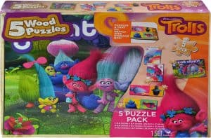 DreamWorks Trolls 5 Wood Puzzle Pack