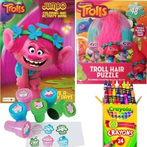 Dreamworks Trolls Coloring Book, Puzzle and Stamper Activity Set