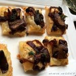 Puff Pastry Bites with Caramelized Onions and Mushrooms Recipe