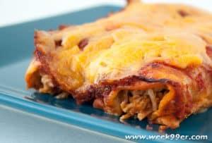 Easy Chicken and Bean Enchiladas